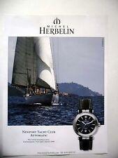 PUBLICITE-ADVERTISING :  Michel HERBELIN Newport Yacht Club  2015 Montres,Voile