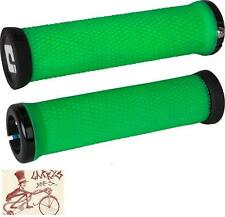 ODI ELITE MOTION LOCK-ON RETRO GREEN BICYCLE GRIPS