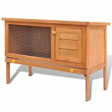 vidaXL Outdoor Rabbit Hutch 1 Layer Wood Small Animal House Pet Cage Carrier