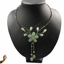 Aventurine Silver Plated Fashion Necklaces & Pendants