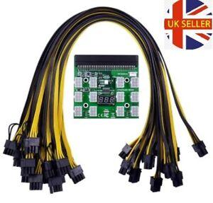 HP Server PSU Breakout Board Module Kit 12 PCS 6Pin to 6+2P 8P Cable GPU Mining