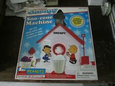 The Original Snoopy Snow Cone Sno-Cone Maker Machine Peanuts Sababa Toys Classic