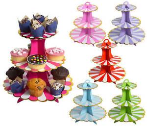 Etagere 3 Etagen Muffin Cupcake Ständer Pappe 3-stöckig Pappständer