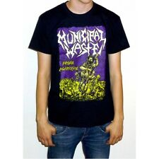 "Municipal Waste ""Massive Aggressive"" Black T-shirt - NEW OFFICIAL fatal feast"