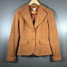 ddc9a1ea4d63 Halogen Womens Wool Blend Jacket Blazer Size XS Brown Tan