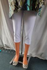 MAGNA 3/4 Leggings Capri HOSE Schlupfhose m. Knöpfe*LAGENLOOK*Gr.40 > 58*weiss