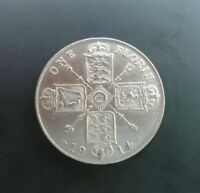 UK 1914 FLORIN HIGH GRADE GEORGE V BRITISH SILVER FLORIN ref SPINK 4012 Cc2