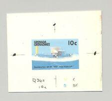 Grenada Grenadines #877 1st Hovercraft, Hydrofoil 1v. imperf chromalin proof