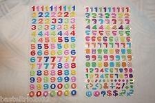 Zahlensticker Zahlen Sticker bunte Softysticker Scapbooking Einladung Geburtstag