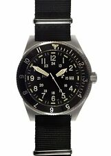MWC 300m Water Resistant Stainless Steel Tritium / GTLS Military Navigator Watch