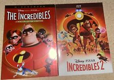 Disney's The Incredibles 1&2 Dvd Set Includes Both Movies Free Usa Shipping