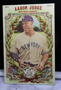 2019 Topps Allen & Ginter Jumbo Box Topper Rip Card 8 Aaron Judge 61/65 Unripped