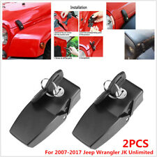 Anti Theft Locking Hood Catch Lock Fit For Jeep Wrangler JK Unlimited 2007-2017