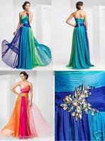 New Chiffon Long Formal Bridesmaid Ball Gown Party Cocktail Evening Prom Dresses