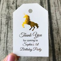 20x Unicorn Birthday Party Favor Tags 1st Birthday Thank You Gift Cards Labels