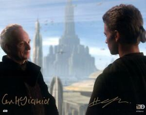 Hayden Christensen & Ian McDiarmid Attack of the Clones Signed 11x14 Photo