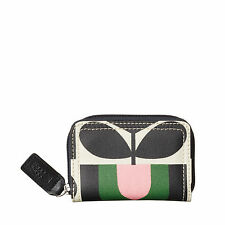 Orla Kiely Womens Stripe Tulip Medium Zip Wallet Spring New