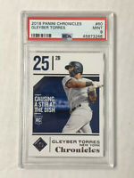 GLEYBER TORRES 2018 Panini Chronicles ROOKIE RC #60! PSA MINT 9! CHECK MY ITEMS!