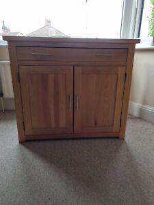 Used solid oak computer desk