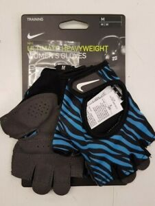 Nike Women's Ultimate Heavyweight Gym Fitness Weight Training Gloves Black Blue