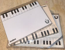 Music Piano Keys Stationery Set & Pad Letter Writing Collector Coronet Vintg Lot