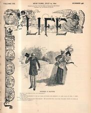 1892 Life July 14 - Harvard annex girl outshines males; tattoo; Yale vs Oxford