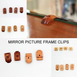 4x Picture Mirror Mounting Fixing Clips Plugs/Brackets Screws Frame Wardrobe