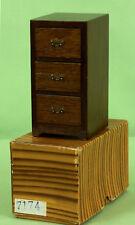 413 Vintage Dollhouse Miniature Reminiscence Oak Cabinet 7174 dark