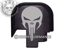 For Smith Wesson S&W SHIELD 9 40 Rear Slide Back plate BLK NDZ Skull 2