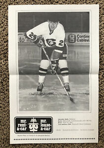 Vintage 1984 AHL Springfield Indians Poster Schedule Miroslav Maly MR RENT A CAR