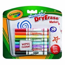 Crayola - Dry Erase Wipe Clean Washable Marker Pens Pack of 8