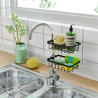 Stainless Steel Faucet Shelf Kitchen Sink BO Sponge Soap Storage Organizer