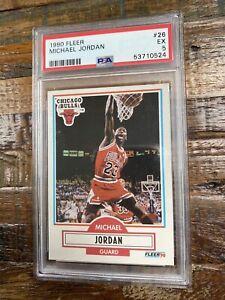 Michael Jordan 1990 Fleer #26 EX PSA 5 Fleer 90