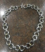"""Vintage Sterling Heavy Figure Eight 17"""" Choker/chain Necklace 116.6grams"""