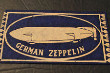 Tobacco Felt: German Zeppelin Early 1900's.