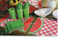 A Slice Of Summer Quilt Pattern Pieced/Applique CA Place Mat Napkin