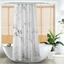 Marble Shape Shower Curtain Bathroom Waterproof Curtain With Hooks Room Decor BS