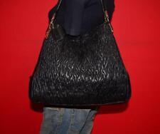 COACH Madison Phoebe Gathered Twist Black Leather Shoulder Purse Tote Bag 26257