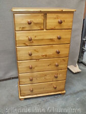 CHASE RANGE 5+2 DRAWER CHEST SOLID PINE HAND MADE BESPOKE SIZES COLOURS