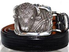 Barry Kieselstein Cord Sterling Silver Steer Bull Lizard Belt SZ 3 LG 28-32