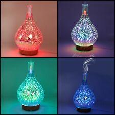 Diffuseur d'huiles essentielles lampe led feu d'artifice 3D verre décoration