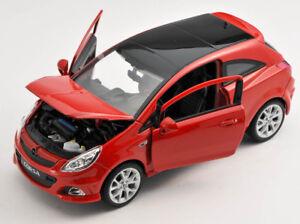 BLITZ VERSAND Opel Corsa OPC rot / red 1:24 Welly Modell Auto NEU & OVP BOX