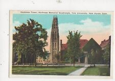 Harkness Tower Memorial Quadrangle Yale University Vintage USA Postcard 507a