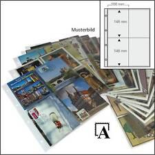 Folienblätter für A6 Postkarten Ansichtskarten Autogrammkarten f.bis zu 120 Kart