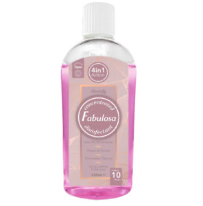 Fabulosa 220ml 4 in1 Disinfectant Pink, Concentrated Anti-bac Multi-purpose