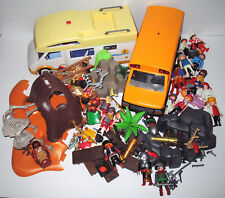 HUGE LOT Playmobil Playmobile knights pirates Indians school bus camper caveman