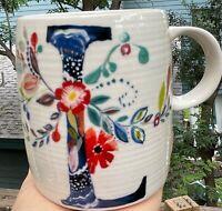 "Starla M. Halfmann Anthropologie Letter Initial Monogram ""L"" Mug Cup."