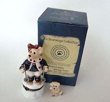 Boyds Bears Le Bearmoge Collection - Natasha CC Ski Porcelain Hinged Box