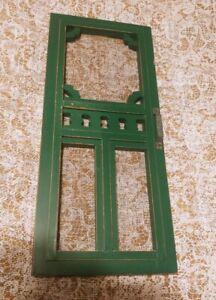 Farmhouse Primitive Green Wooden SCREEN DOOR Wall Hanging
