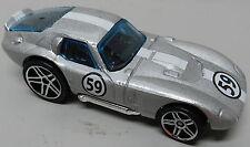 FORD SHELBY COBRA DAYTONA 59 SILVER RACE CAR HW HOT WHEELS